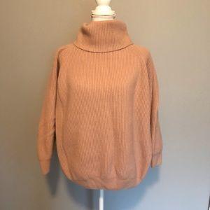 MaxMara Angora Wool Turtleneck Sweater Blush Nude